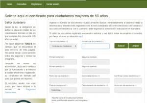 certificado militar para mayores de 50 años